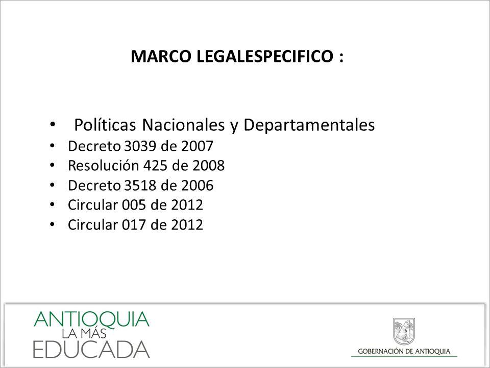 MARCO LEGALESPECIFICO :