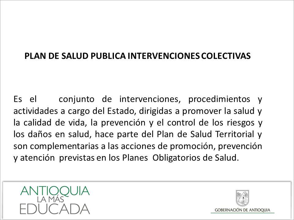 PLAN DE SALUD PUBLICA INTERVENCIONES COLECTIVAS