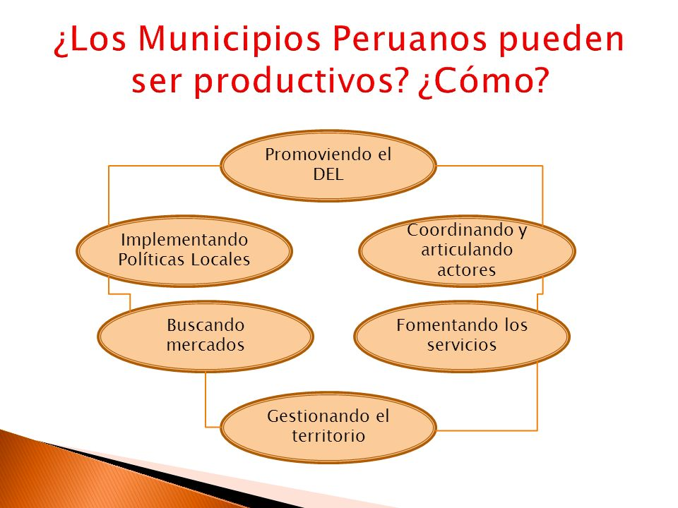 ¿Los Municipios Peruanos pueden ser productivos ¿Cómo