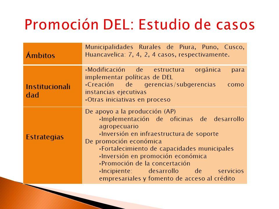 Promoción DEL: Estudio de casos