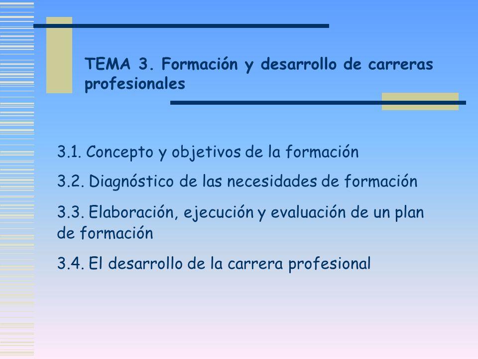 TEMA 3. Formación y desarrollo de carreras profesionales