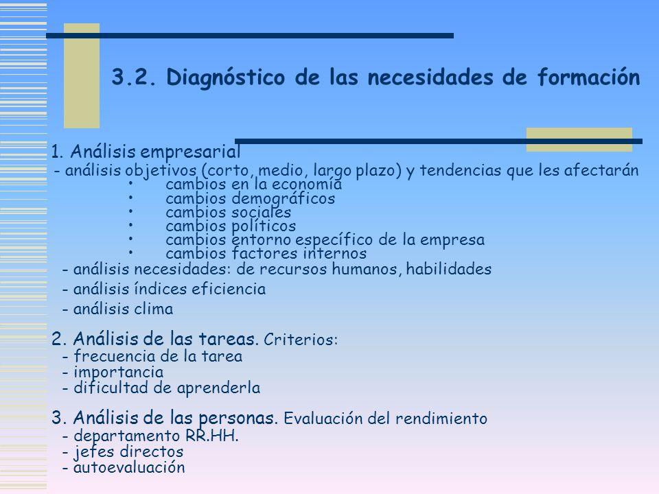 3.2. Diagnóstico de las necesidades de formación