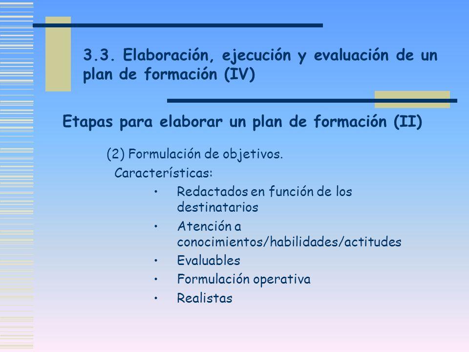 Etapas para elaborar un plan de formación (II)