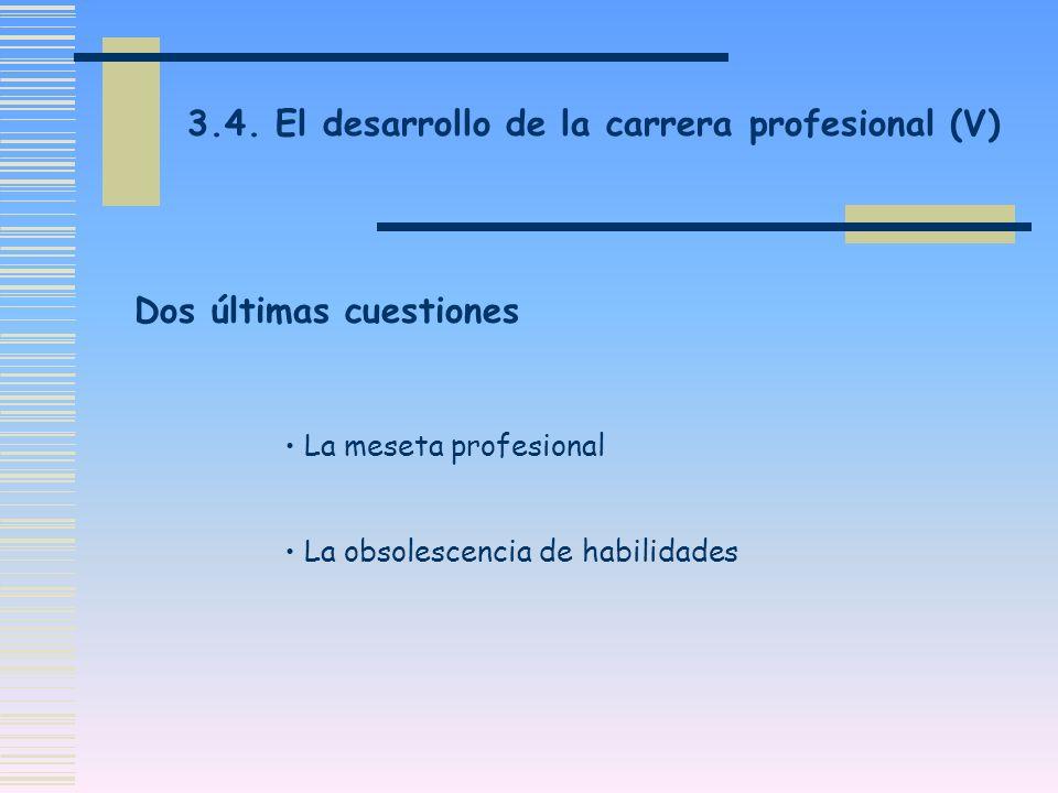 3.4. El desarrollo de la carrera profesional (V)