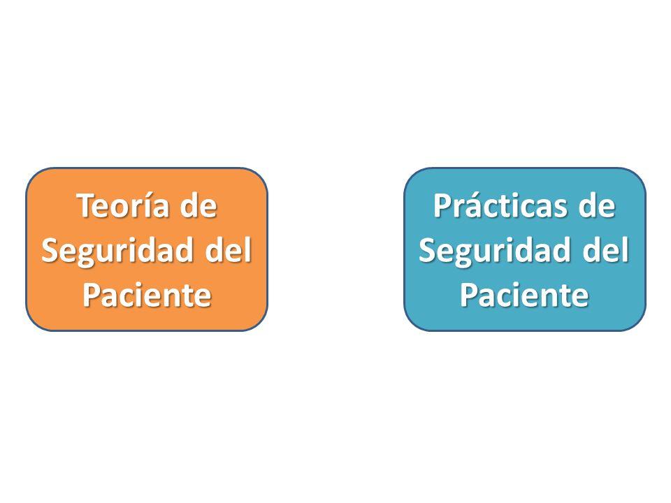 Teoría de Seguridad del Paciente Prácticas de Seguridad del Paciente