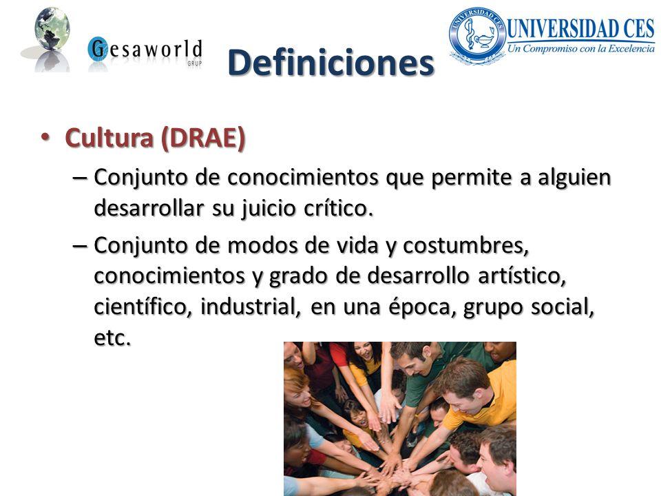 Definiciones Cultura (DRAE)