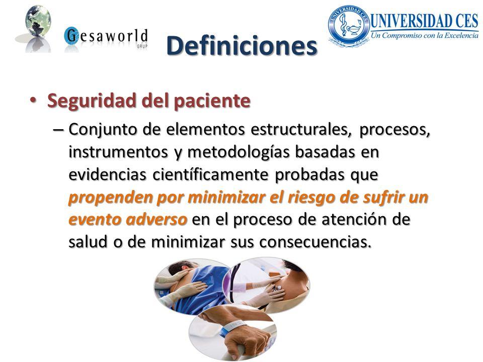 Definiciones Seguridad del paciente