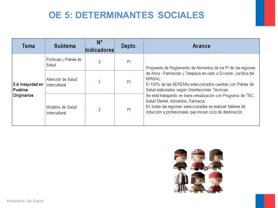 OE 5: DETERMINANTES SOCIALES