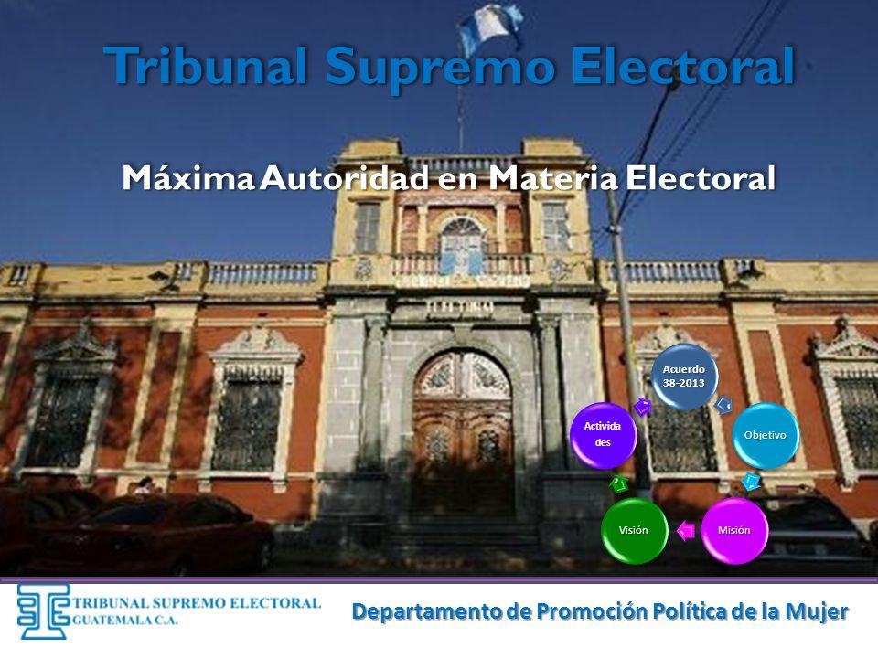 Tribunal Supremo Electoral Máxima Autoridad en Materia Electoral