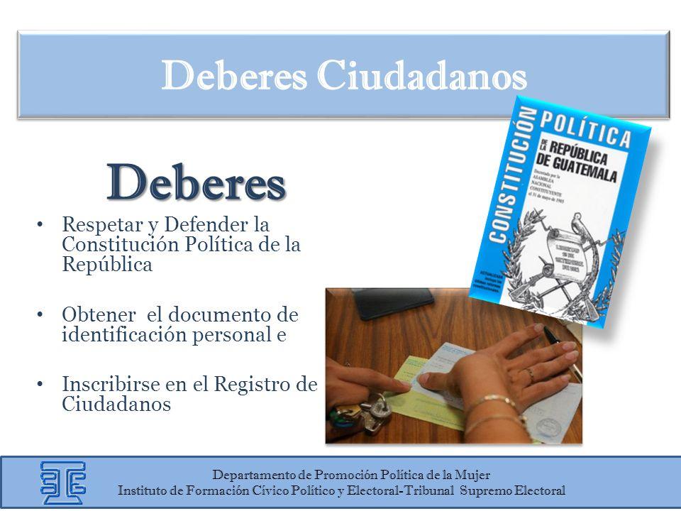 Departamento de Promoción Política de la Mujer