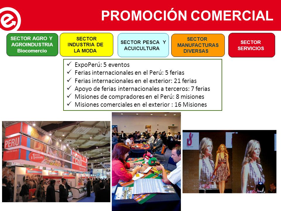 PROMOCIÓN COMERCIAL ExpoPerú: 5 eventos