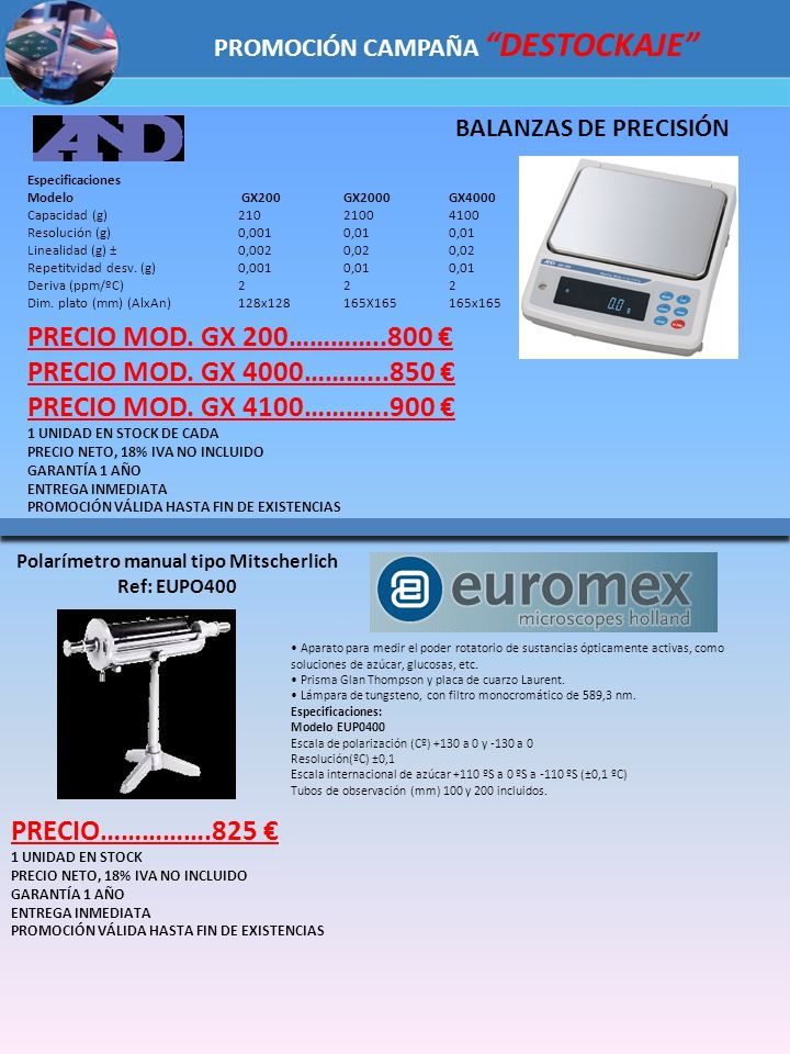 PRECIO MOD. GX 200…………..800 € PRECIO MOD. GX 4000………...850 €
