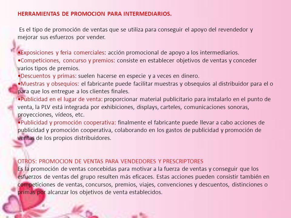 HERRAMIENTAS DE PROMOCION PARA INTERMEDIARIOS