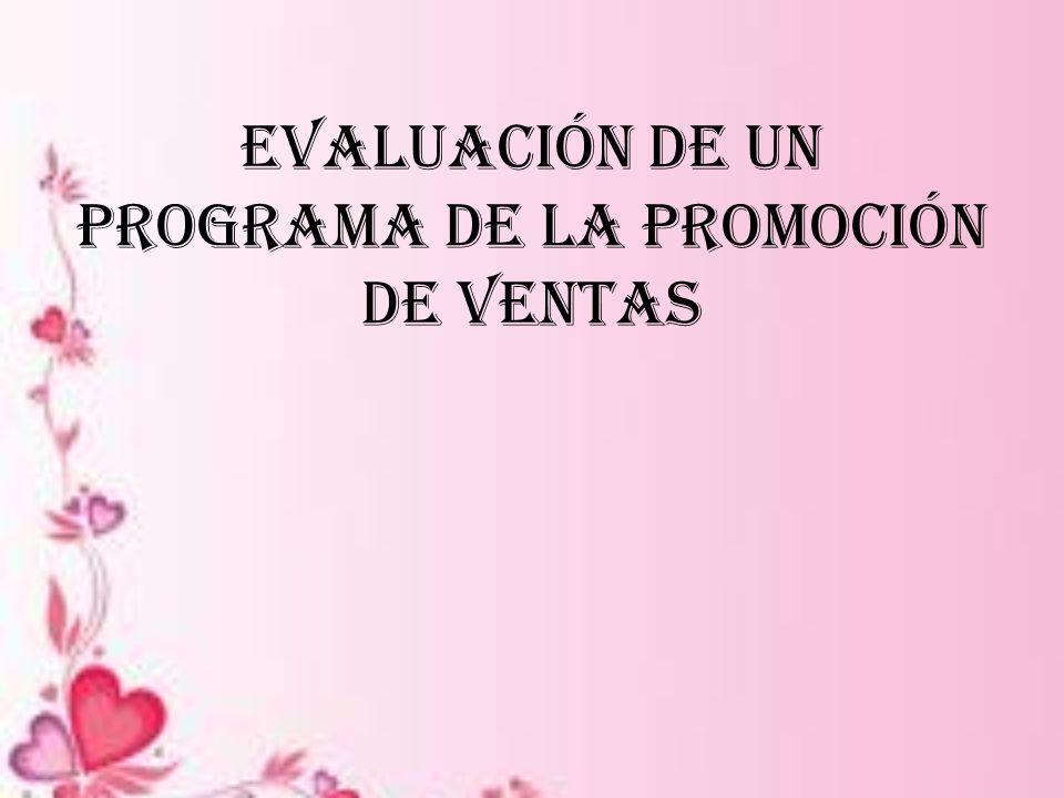 Evaluación de un programa de la promoción de ventas