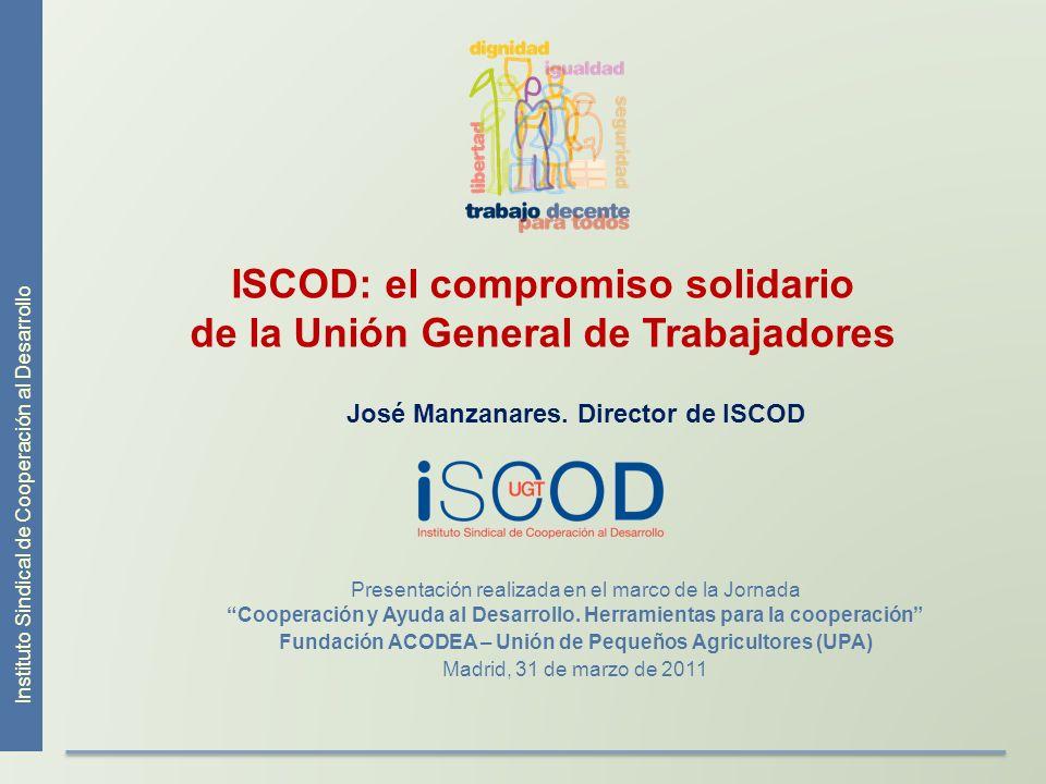 ISCOD: el compromiso solidario de la Unión General de Trabajadores