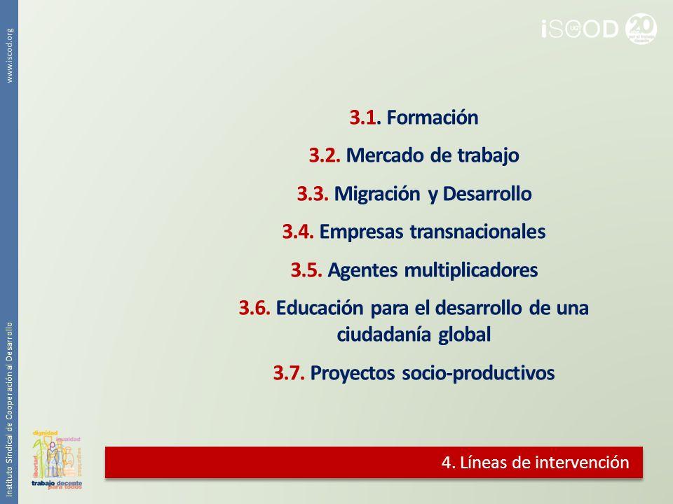 3.3. Migración y Desarrollo 3.4. Empresas transnacionales