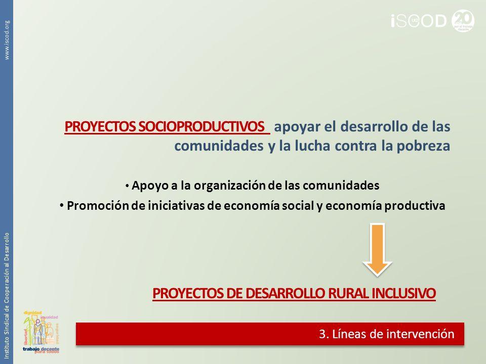 Promoción de iniciativas de economía social y economía productiva