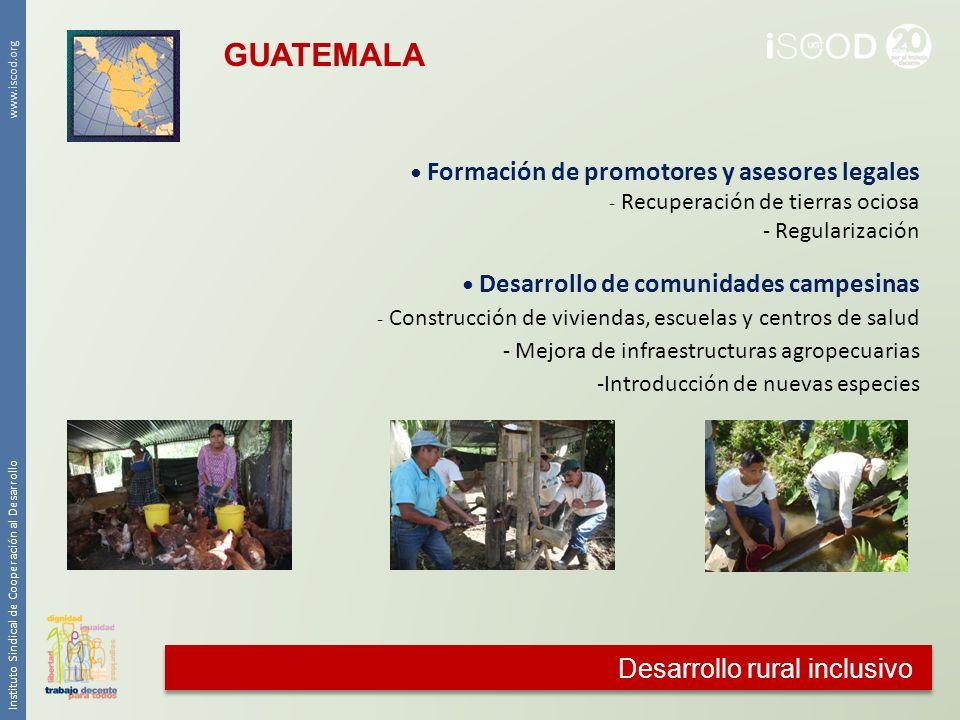 GUATEMALA Desarrollo rural inclusivo