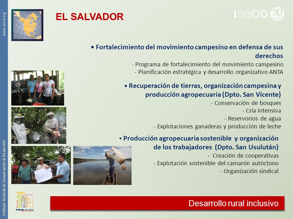 EL SALVADOR Cooperación agraria Desarrollo rural inclusivo