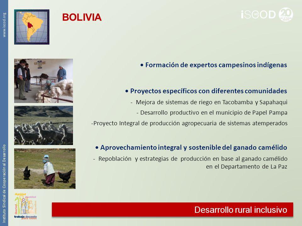 BOLIVIA Desarrollo rural inclusivo