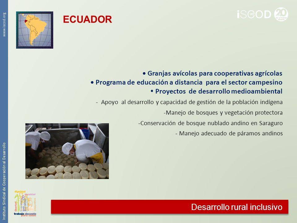 ECUADOR Desarrollo rural inclusivo