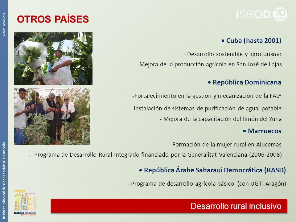 OTROS PAÍSES Desarrollo rural inclusivo • Cuba (hasta 2001)