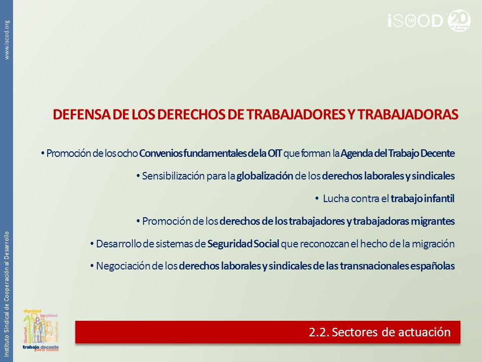DEFENSA DE LOS DERECHOS DE TRABAJADORES Y TRABAJADORAS