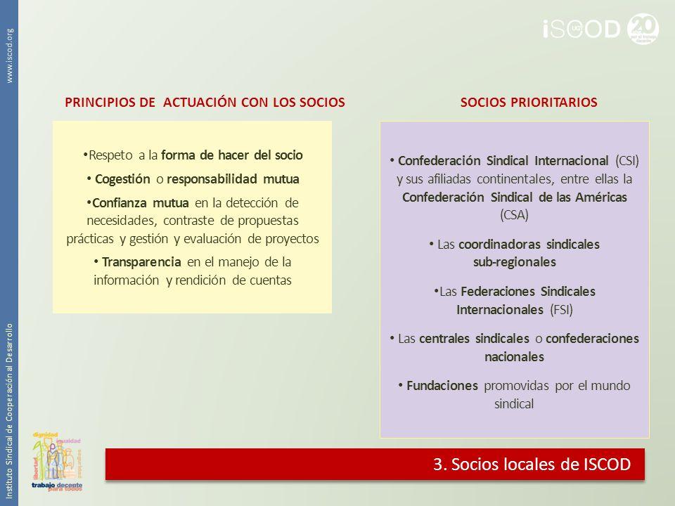 3. Socios locales de ISCOD