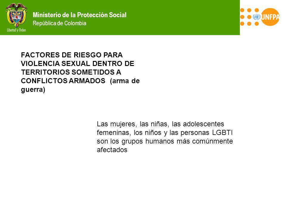 FACTORES DE RIESGO PARA VIOLENCIA SEXUAL DENTRO DE TERRITORIOS SOMETIDOS A CONFLICTOS ARMADOS (arma de guerra)
