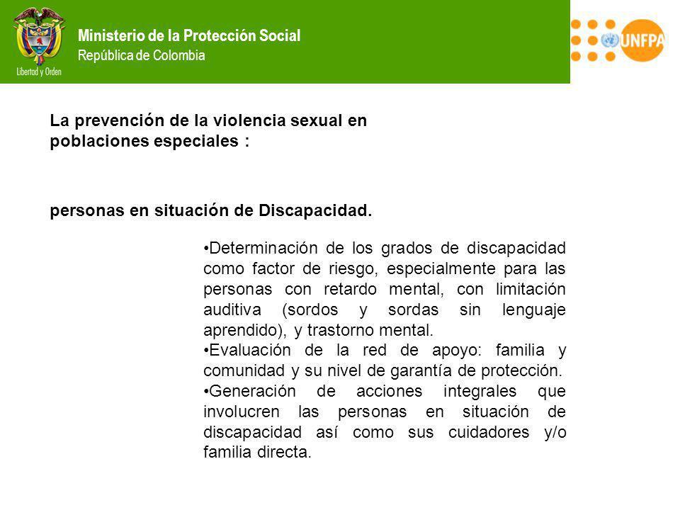 La prevención de la violencia sexual en poblaciones especiales :