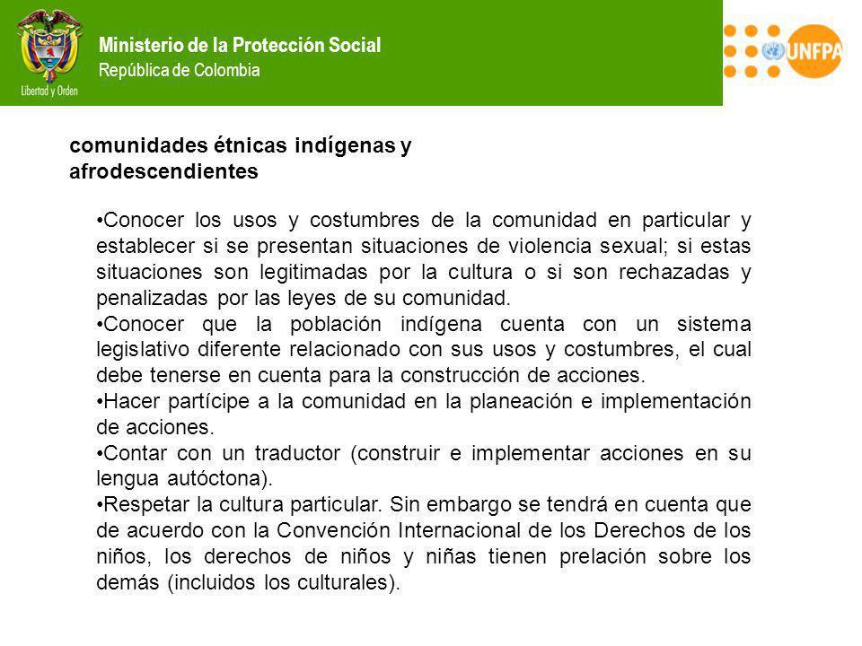 comunidades étnicas indígenas y afrodescendientes