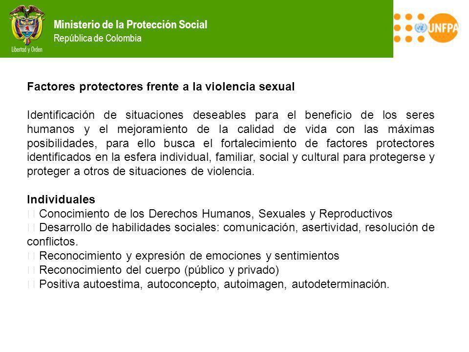 Factores protectores frente a la violencia sexual