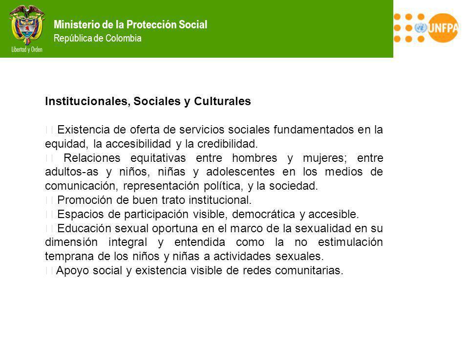 Institucionales, Sociales y Culturales