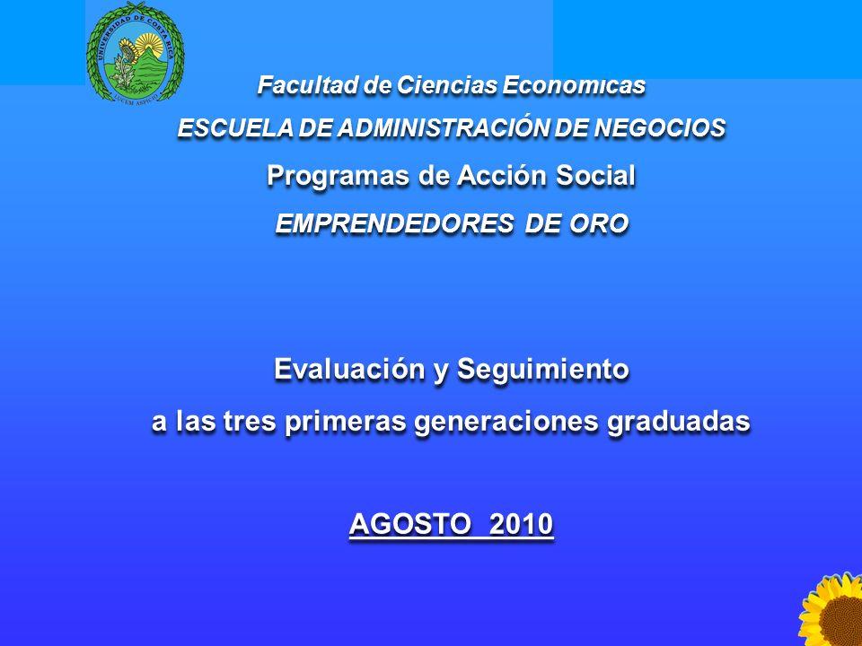 Evaluación y Seguimiento a las tres primeras generaciones graduadas