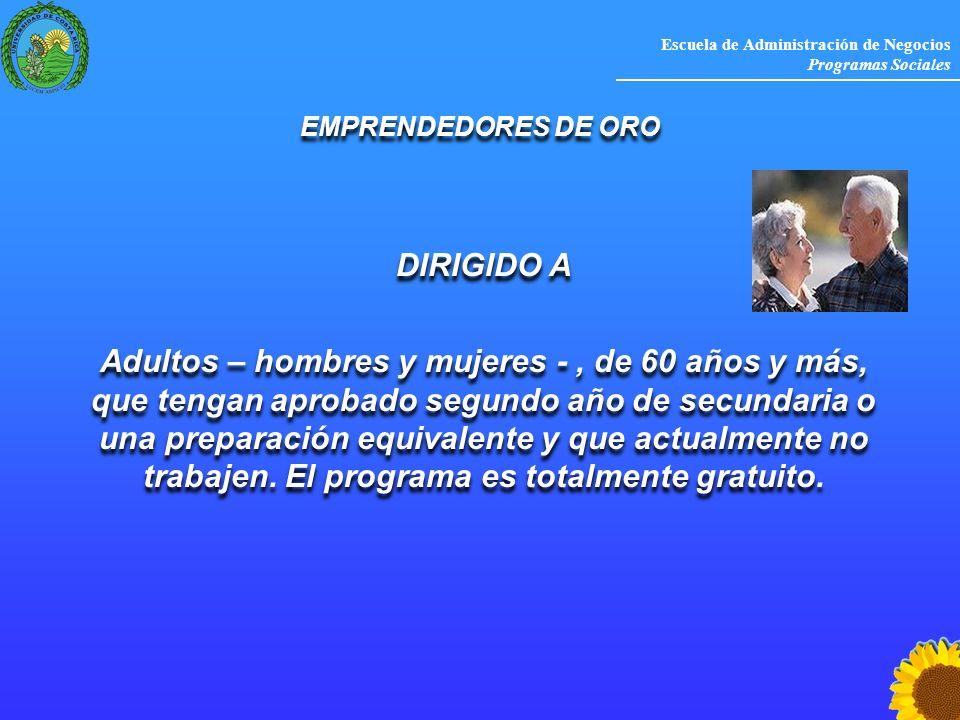 EMPRENDEDORES DE ORO DIRIGIDO A.