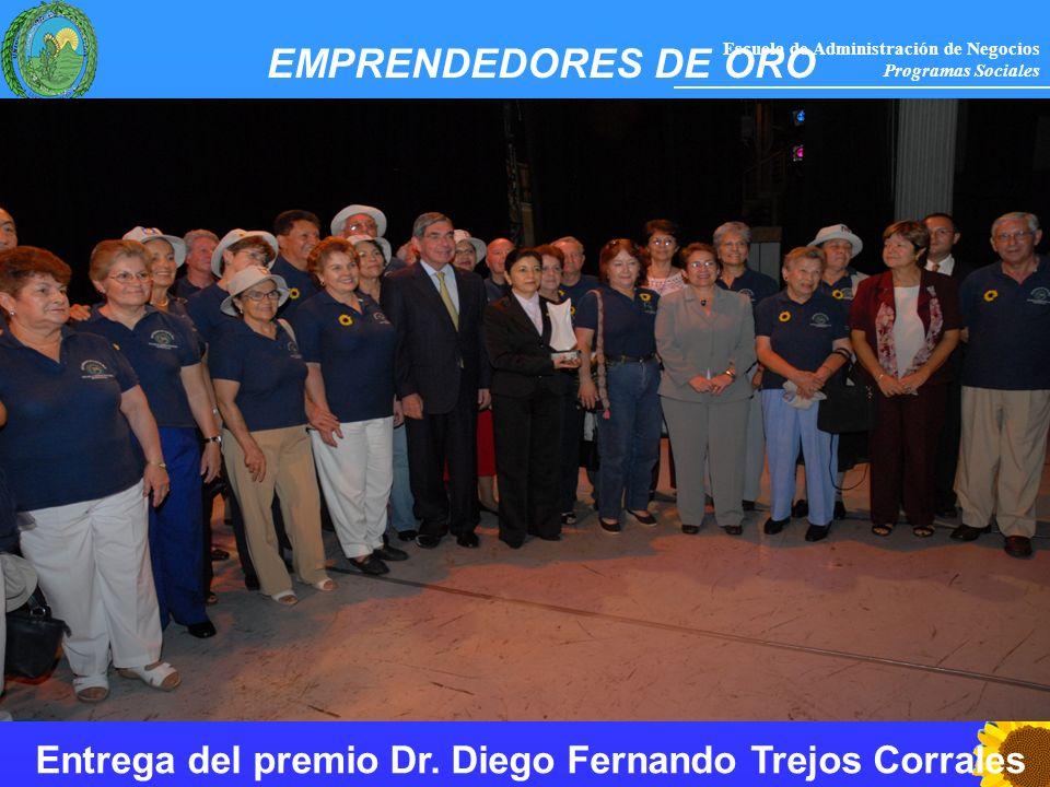 EMPRENDEDORES DE ORO Entrega del premio Dr. Diego Fernando Trejos Corrales