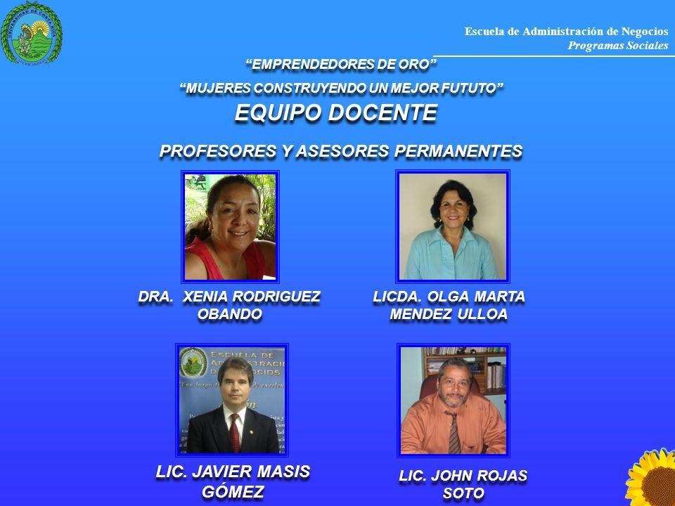 EQUIPO DOCENTE PROFESORES Y ASESORES PERMANENTES