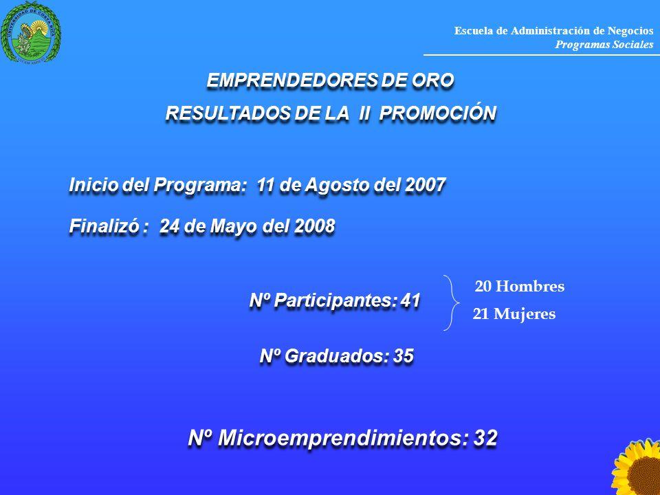RESULTADOS DE LA II PROMOCIÓN