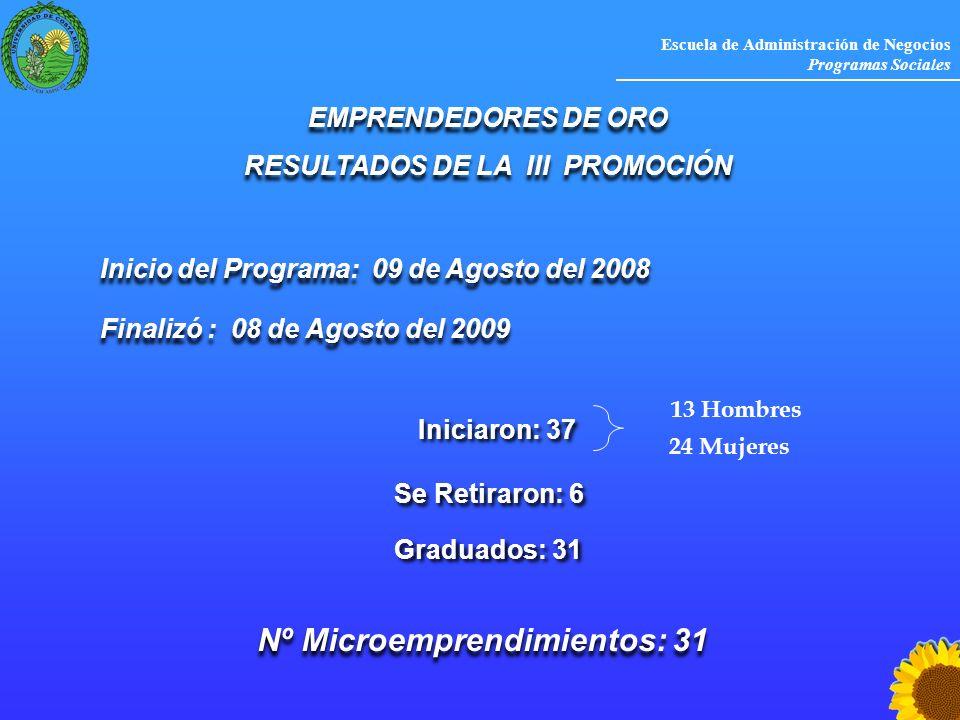 RESULTADOS DE LA III PROMOCIÓN