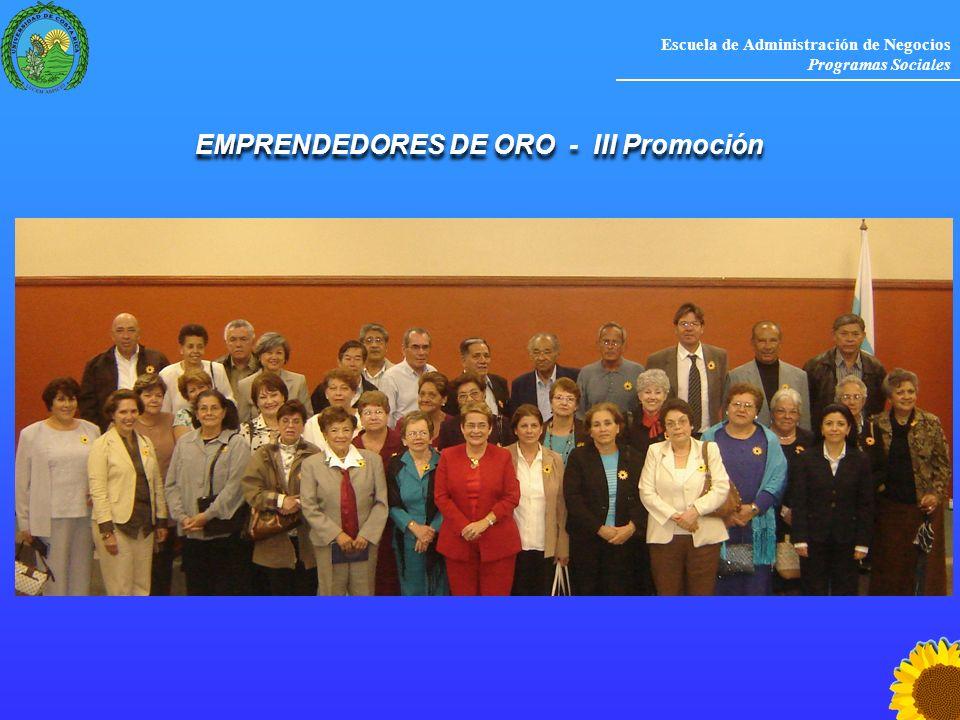 EMPRENDEDORES DE ORO - III Promoción