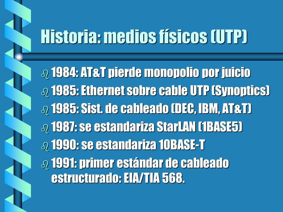 Historia: medios físicos (UTP)