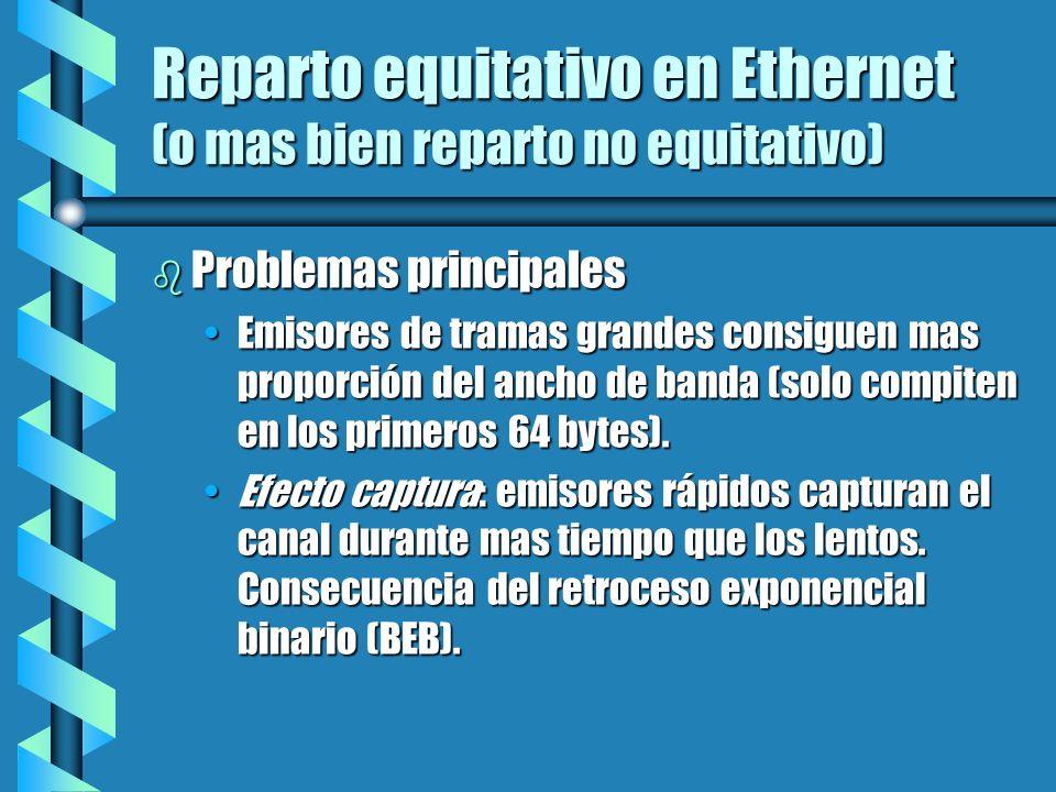 Reparto equitativo en Ethernet (o mas bien reparto no equitativo)