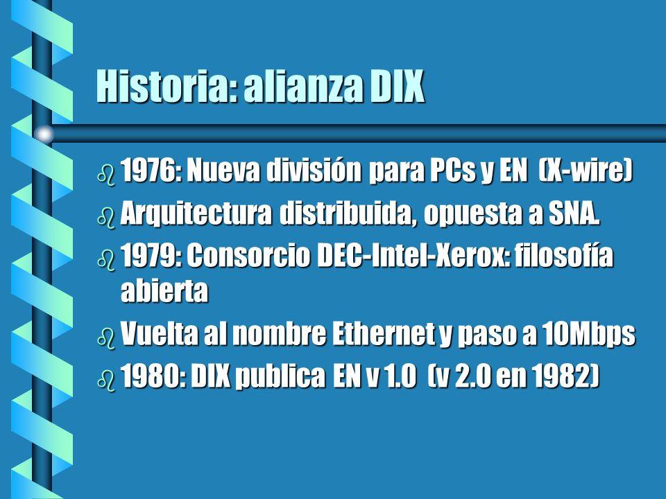 Historia: alianza DIX 1976: Nueva división para PCs y EN (X-wire)