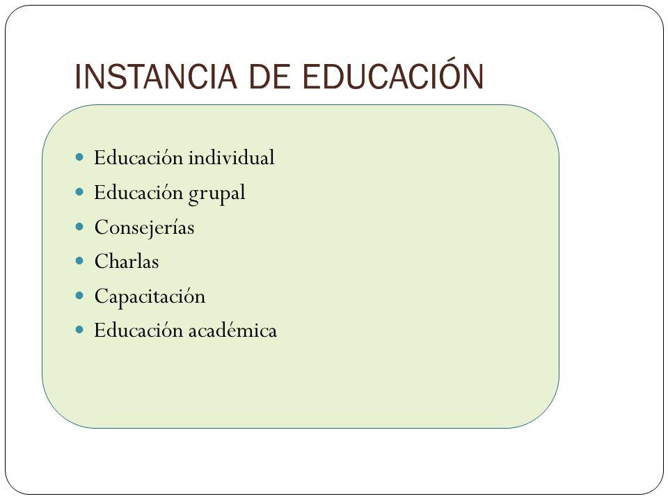 INSTANCIA DE EDUCACIÓN