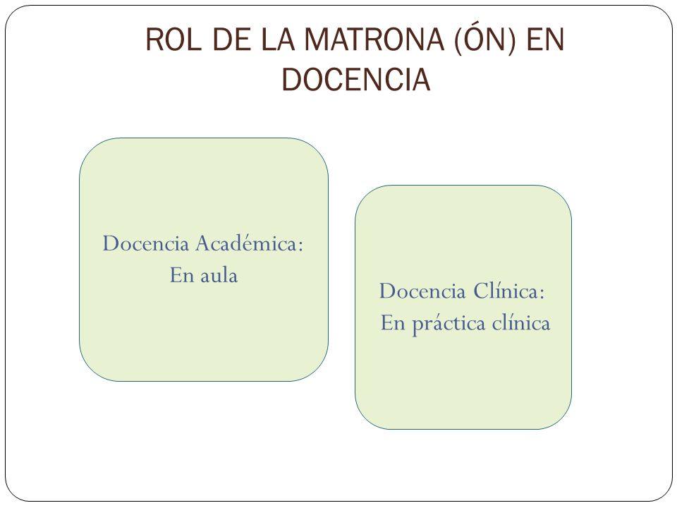 ROL DE LA MATRONA (ÓN) EN DOCENCIA