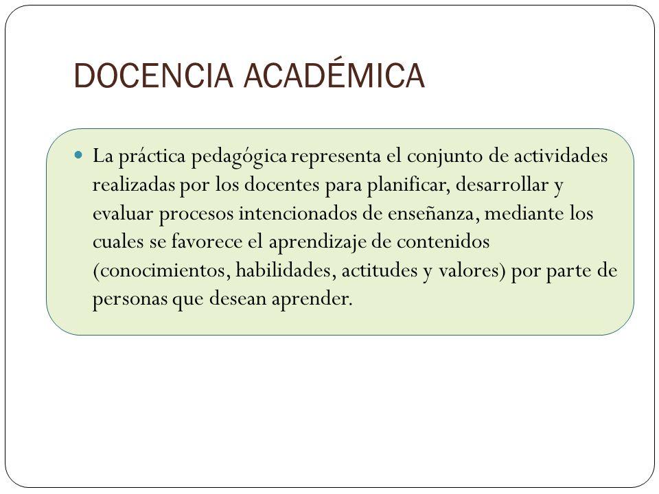 DOCENCIA ACADÉMICA