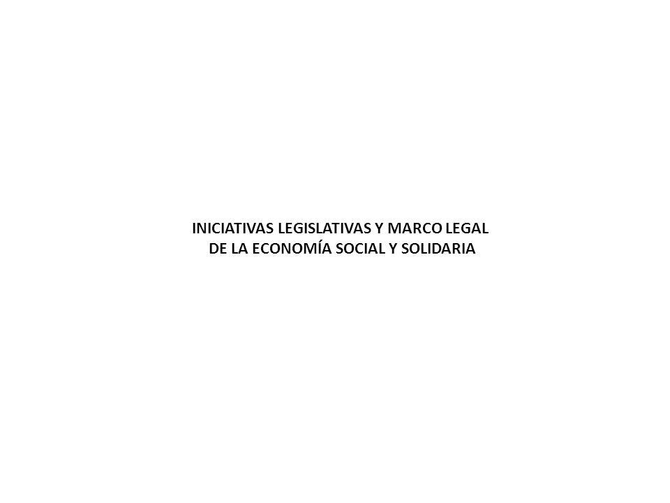 INICIATIVAS LEGISLATIVAS Y MARCO LEGAL