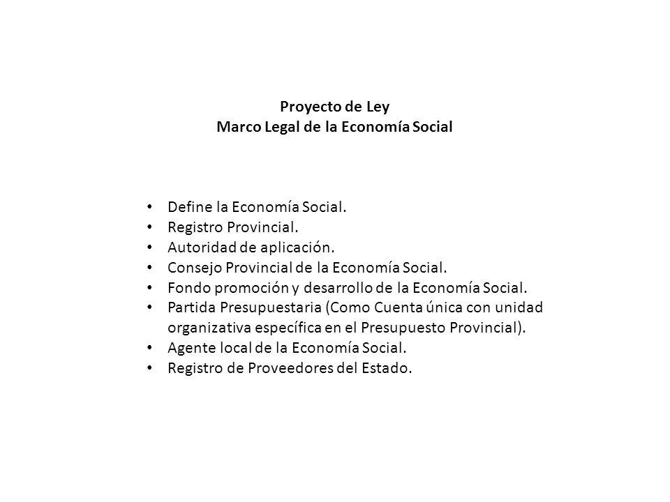 Marco Legal de la Economía Social