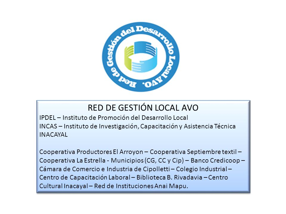 RED DE GESTIÓN LOCAL AVO