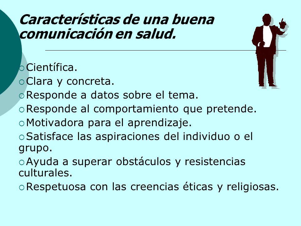 Características de una buena comunicación en salud.
